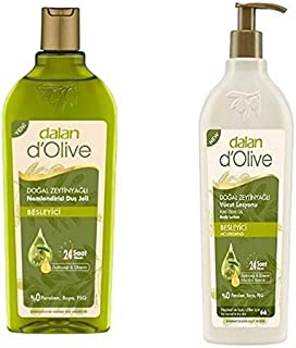 Dalan D'olive Body Wash and Body Lotion Duo Set Olive Oil Body Nourishing Cream 27.05 Fl oz
