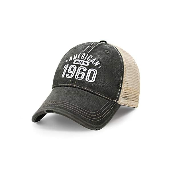 60th Birthday Gift Limited Edition Made in America Legend Since 1960 Baseball Hat Vintage Trucker Hat