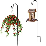 2 Stück Garten Schäferhaken Laternenstab,120cm   80.5cm Metall Gartenstab für Vogelkäfige, Solarleuchten, Laternen, Hochzeiten, Pflanzkörbe