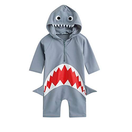 Allence Vaenait Baby 56-80 Baby Badeanzug Swimmanzug Infant Jungen Rash Guard Swimwear Real Jaws Baby