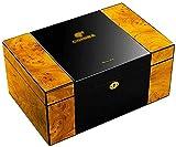 JIAWYJ XIAOJUAN Humidificadores rectangulares de humidores de cigarro de Escritorio con Bandeja y Separador Ajustable Decorativo Caja