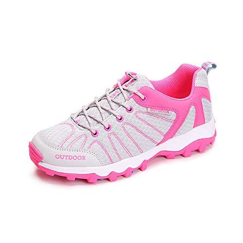 Aerlan Trailrunning Fitnessschuhe,Zapatos para Caminar,Zapatos para Caminar al Aire Libre Zapatos Deportivos Transpirables Antideslizantes Malla Resistente al Desgaste Superficie Liviana Grey_41#