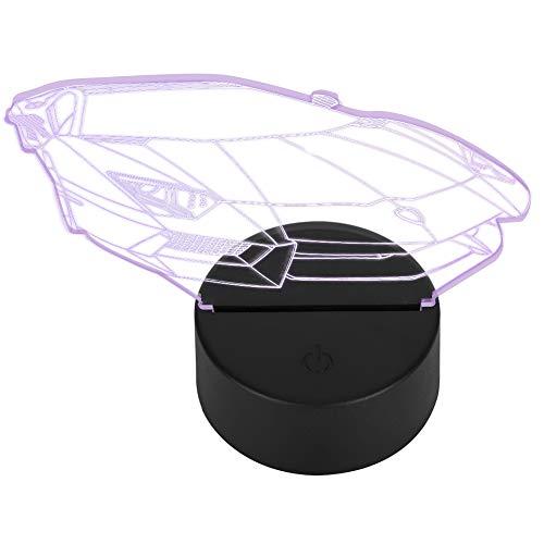 Pangdingk 2021 Neu 3D-Muster 3D-Nachtlicht, kleine Größe bequem zu verwenden Acryl Schreibtischlampe, Gute Leistung Mädchen Zimmer Regal für Schlafzimmer Wohnzimmer Büromöb