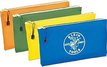 Klein Tools Bolsa com zíper 5140, bolsa utilitária, use como bolsa de depósito bancário, bolsa de ferramentas ou bolsa, ma...