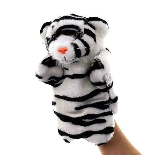 Metermall Hot Grote Handpop Dier Knuffels Baby Doek Educatieve Cognition Hand Speelgoed Vinger Poppen Marionet tijger 25 cm