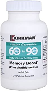 Kirkman 60 to 90 Memory Boost (Phosphatidylserine) for Seniors || 90 Soft gels || Supports Memory and Brain Health || Glut...