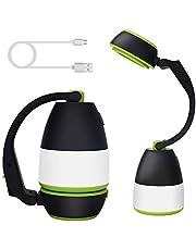 SYTUAM LED camping lamp, multifunctionele, USB oplaadbare, LED Outdoor Lights, waterdichte LED zaklamp met power bank, 350lm draagbare tafel lamp, voor camping, wandelen, lezen, stroomuitval