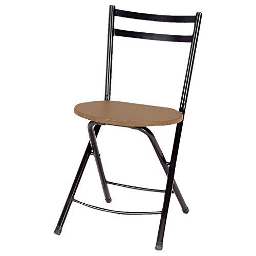 椅子 フォールディング チェア 折りたたみ ブラウン TC-800C (BR)