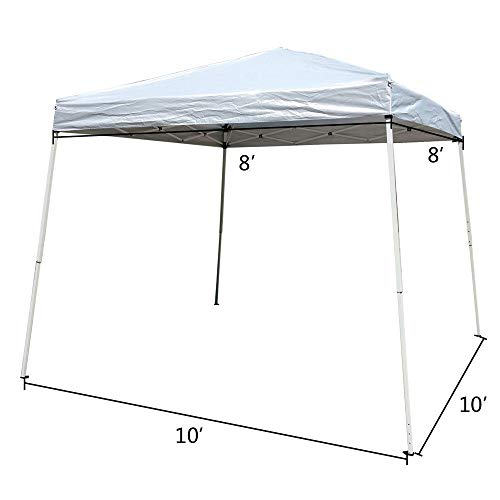Best Direct Deals 10x10 Ft Pop Up Gazebo Easy Pop-Up Canopy Party Tent White W/Carry Bag