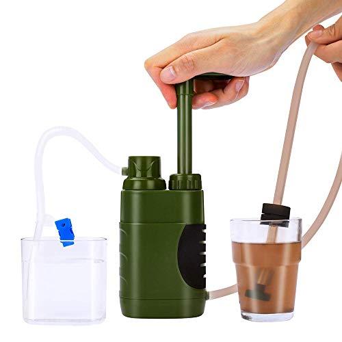 Lixada Filtro de Agua Sistema de Filtración de Agua para Familia Emergencia Supervivencia Acampada Viaje Mochilero al Aire Libre
