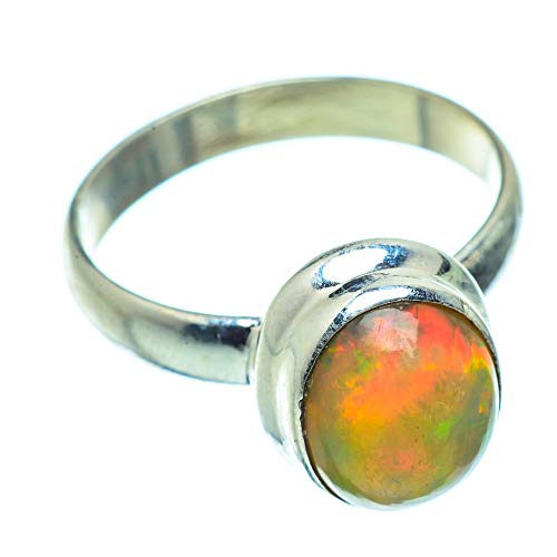 Ana Silver Co Natural Ethiopian Opal Ring Size M 1/2 (925 Sterling Silver)