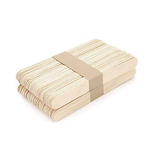 100 Stück Holzspachtel Zungenspatel Wachsspachtel Einweg-Medizin-Stiele