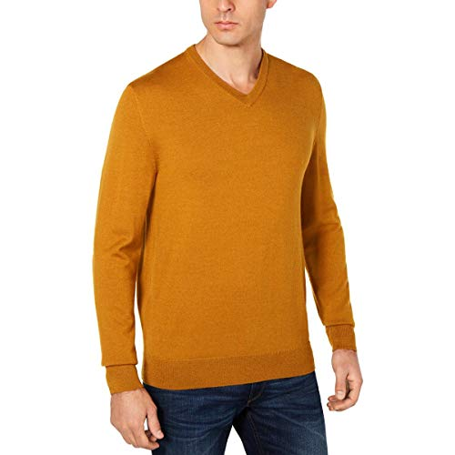 Club Room Men's Cashmere Solid V-neck Sweaters