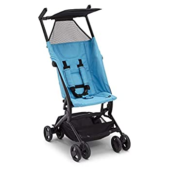 The Clutch Stroller by Delta Children - Lightweight Compact Folding Stroller - Includes Travel Bag - Fits Airplane Overhead Storage - Aqua