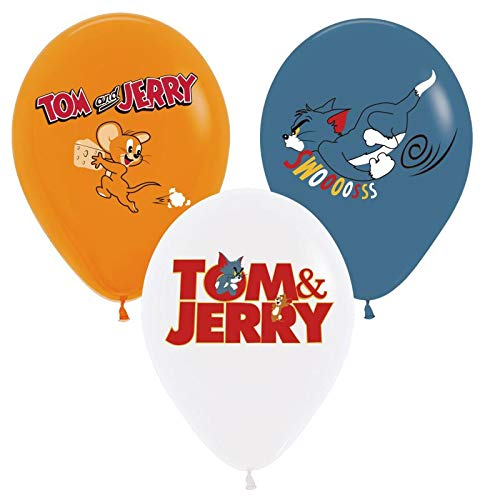 12PC LATEX the TOM and Jerry mouse cat movie BALLOONS PARTY SUPPLIES DECORATION THEME SIDE THE BIRTHDAY A2