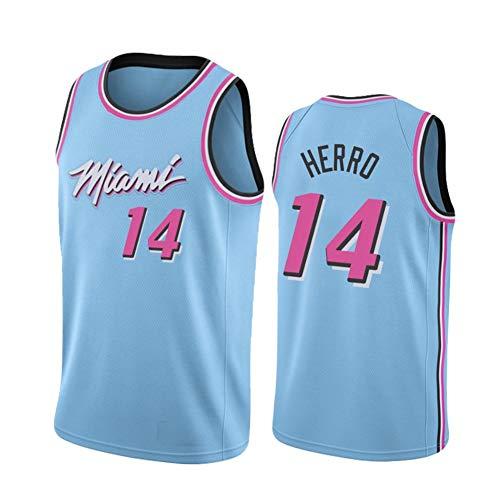 QYAD Míǎmì Tylèr Hěrrò 14# Jǐmmy Bǖtlěr 22# New Season City Edition Jersey,City Edition Men's Sports Fitness Clothing Mesh Quick-drying blue 14-S