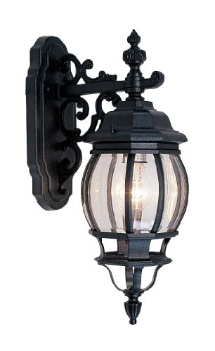 Livex Lighting 7706-14 Frontenac 1-Light Outdoor Wall Lantern with Clear Beveled Glass Shades, 20