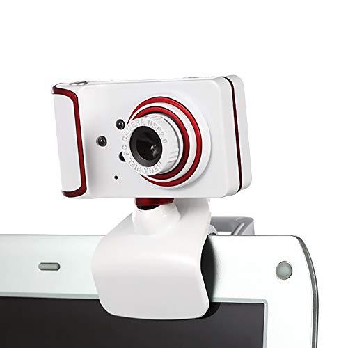 Jia Hu 1 Piece HD USB cámara web call webcam streaming webcam en tiempo real cámara web externa micrófono video blanco
