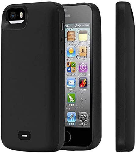 HiKiNS Funda Batería para iPhone 5S/SE/5 Estuche de Carga de Respaldo de batería extendido Recargable de 4000 mAh, Estuche de Cargador portátil de Banco de energía de Respaldo para iPhone 5S/SE/5