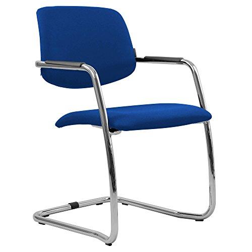 Weber Büro GAMA Freischwinger Blau Stapelbar Besucherstuhl Konferenzstuhl Seminarstuhl Stuhl