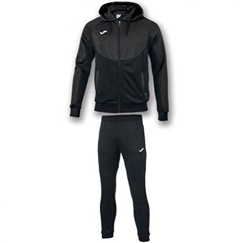 Joma Suit Hood Essenziale, Tuta Uomo, Antracite/Nero, XL