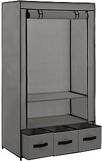 EBTOOLS Armoire de Rangement Penderie Dressing Couverture en Tissu Intissé Penderie de Vêtement avec 3 Tiroirs Garde-Robe ...