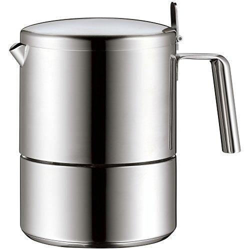 WMF Kult Espressokocher 300ml, Espressomaschine für 6 Tassen, Cromargan Edelstahl mattiert, Induktion, spülmaschinengeeignet