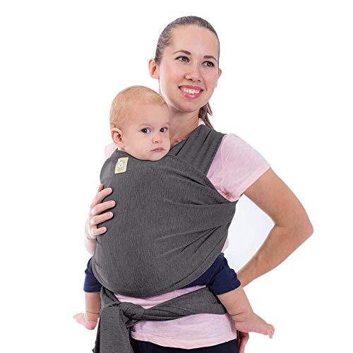 Baby Wrap Carrier - All in 1 Stretchy Baby Sling - Ergo Carrier Sling - Baby Carrier Wraps - Baby Carriers for Newborn, Infant - Baby Holder Straps - Baby Slings - Baby Sling Wrap (Mystic Gray)