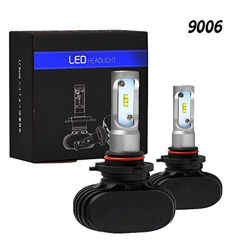 Tencasi 2 piezas 9006 HB4 bombillas de faros LED Serie S1 50W 8000LM 6500K Blanco lámpara de conducción de conversión automática Superbrillante con CSP chips LED