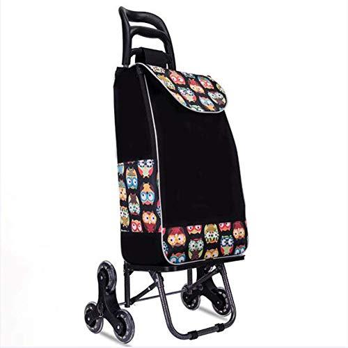 ZSAIMD Zusammenklappbar Reusable Trolley Einkaufstasche - Easy Climb Treppen, Wagen Wiederverwendbare Einkaufstaschen 01.02 Warenkorb for Heim Supermarkt, Schwer