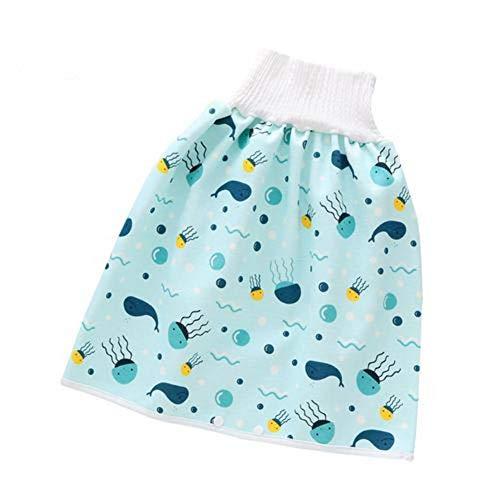 AIHOME Falda de pañales para bebé, falda de entrenamiento reutilizable para dormir bien