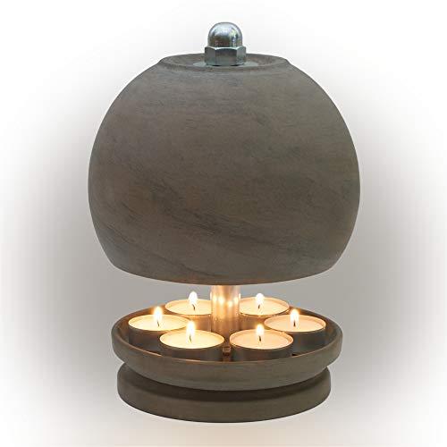 HP-TLO-Serie-K-B-XL-25/16-7 Kerzen! Teelichtlampe Teelichthalter Teelichtofen Stövchen Meditationszubehör Kerzenhalter Teelichter + Feuerzeug GRATIS
