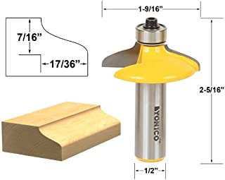 Yonico 12162 Ogee Euro Style Door and Drawer Front Edging Router Bit 1/2-Inch Shank