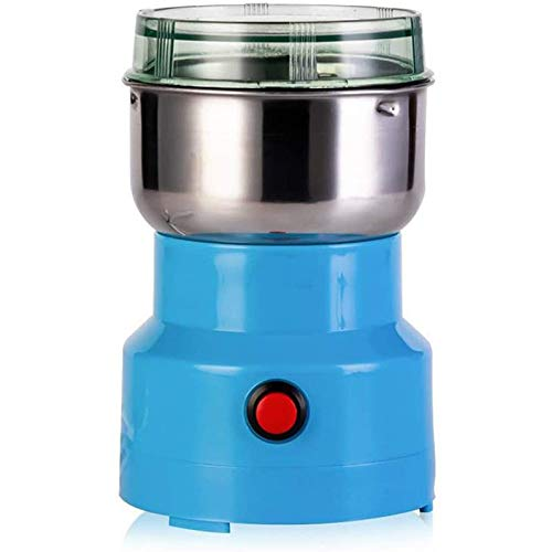 ZJMIQT Multifunktions-Smash-Maschine Hochwertige Kleine HaushaltsmüHle KräUtermüHle Pulverisierer Werkzeugmaschine FüR Kaffeebohnen-GewüRzköRner Nuss (Blau)