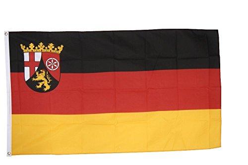 Flaggenfritze Fahne/Flagge Deutschland Rheinland-Pfalz - 150 x 250 cm + gratis Sticker, XXL-Fahne
