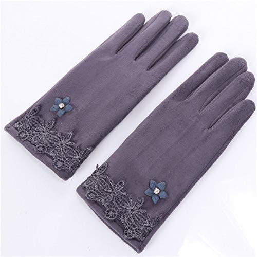 Shangai elegante kanten dames winter-Touch screen handschoenen verwarmen Sich Plus fluwelen kant soort en wijssuède drijvende handschoenen in de buitenlucht