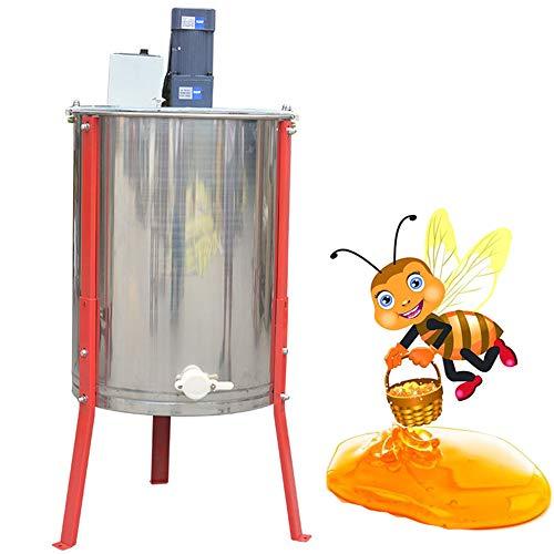 QXTT Honigschleuder Elektrisch 4 Waben Lebensmittelechter Edelstahl Honig-extraktor Mit Deckel Schleuder Tangentialschleuder Honey Extractor Imker Und Bienenzüchter Zubehör