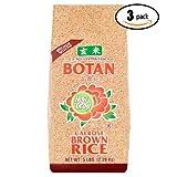 Botan Calrose Brown Rice, 5 lb (Pack Of 3)
