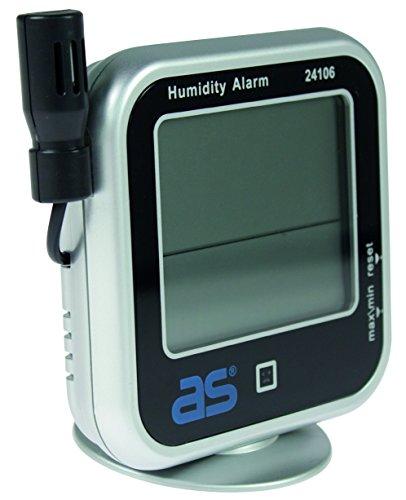 as - Schwabe 24106 Hygrometer, digitales Feuchtigkeitsmessgerät mit Thermometer (Messen von Temperatur, relativer Luftfeuchtigkeit und Taupunkt)