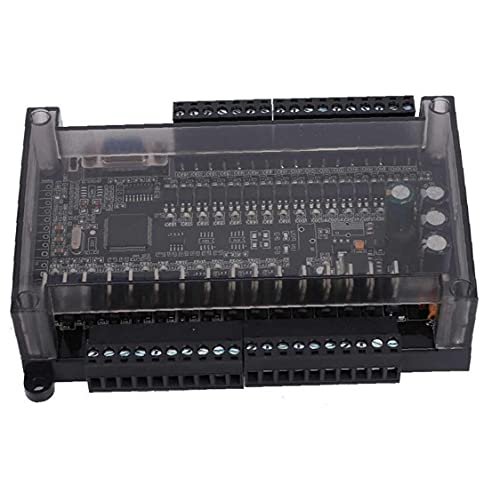 LAANCOO Control Industrial Junta PLC Controlador lógico programable 485 Soporta Can 3U 32mt Industrial del módulo de Control Negro