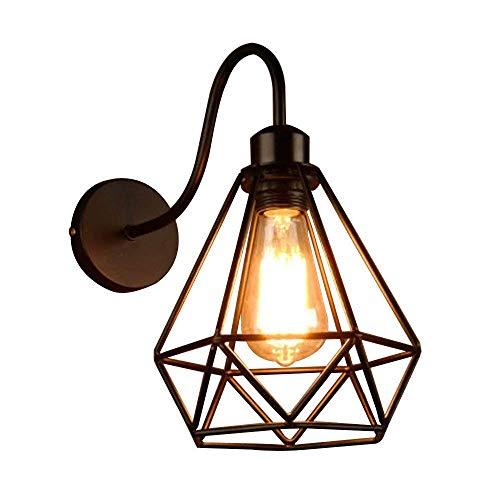 Apliques Pared Diseño decorativo de interior aplique la pared de luz de la lámpara industrial de Steampunk retro lámpara de pared de la vendimia Loft en bar rústico Balcón Salón Cocina Sala de trabajo