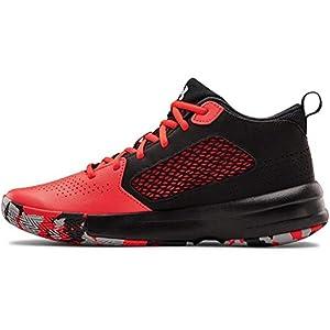 Under Armour unisex child Lockdown 5 Basketball Shoe, Versa Red (601 Black, 8.5 US