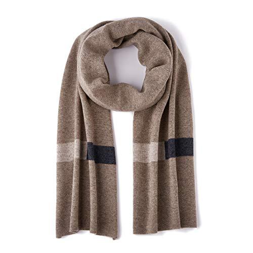 GENTIGER Merino Wool Winter Scarf Light Soft Warm Long Cold Weather Scarf, Tan