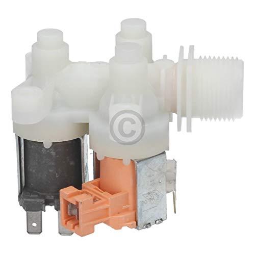 Europart Magnetventil Einlaufelektroventil Wasserzulaufventil gewinkelt dreifach Waschmaschine passend wie AEG Electrolux Zanker Zanussi 4071360194 Quelle Privileg Matura 02306611 Husqvarna Neckermann