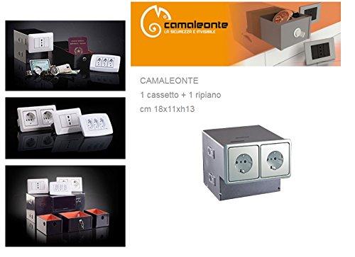 Cassaforte/Cassetta di sicurezza a scomparsa/mimetica finta presa elettrica Mod. 1 cassetto + ripiano - CAMALEONTE