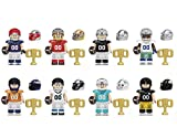 JUSTGIVE - American Football Game Top Rugby Players Block Active Figures for Kids 8pcs (2021 Release)