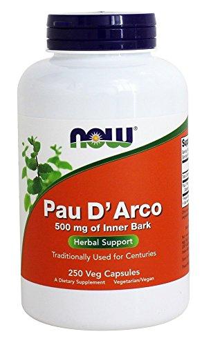 Pau D Arco, 500 mg, 250 cápsulas - Now Foods