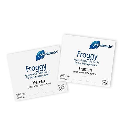 Froggy PE Hygienehandschuhe Damen á 100 Stück, Folienhandschuhe