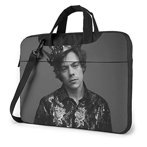 Ha-Rry- Styles Laptop Shoulder Messenger Bag Tablet Macbook Sleeve Case Business Briefcase 15.6 Inch