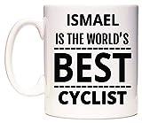 ISMAEL Is The World's BEST Cyclist Taza por WeDoMugs®